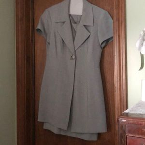 2pc women's grey dress